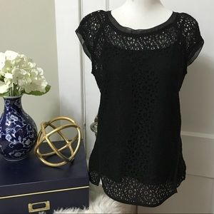 Pixley Yuli Lace Cap Sleeve Blouse Stitch Fix S